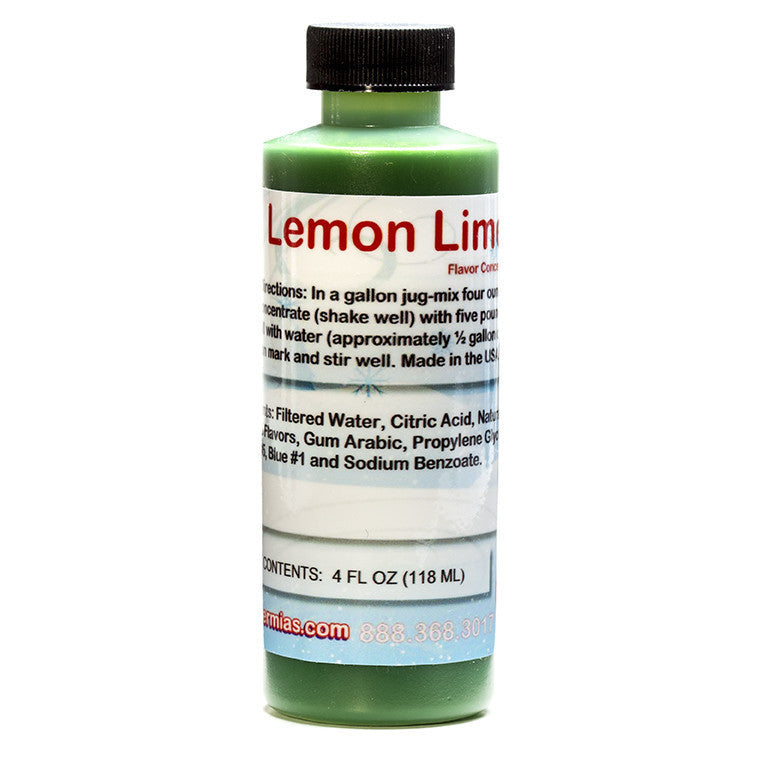 Shaved ice concentrate lemon lime 4 ounce sample size