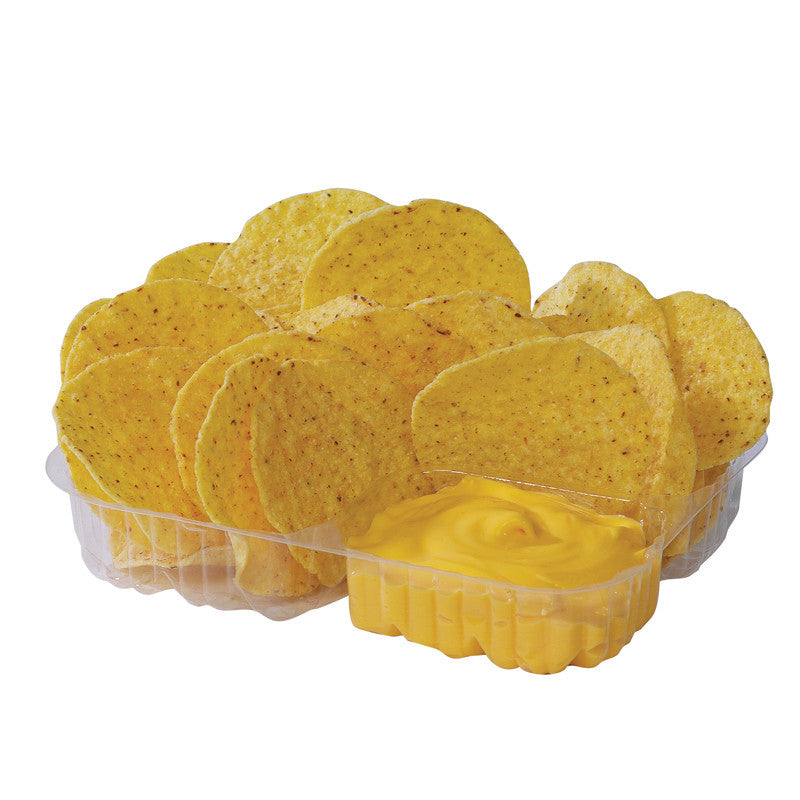 Nacho tray two compartment plastic
