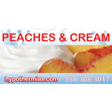 Label for shaved ice bottle peaches & cream