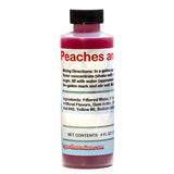 Peaches and cream shaved ice snow cone flavor concentrate 4 ounce sample