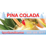Label for shaved ice bottle pina colada
