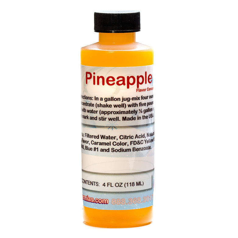 Pineapple shaved ice flavor syrup concentrate 4 ounce
