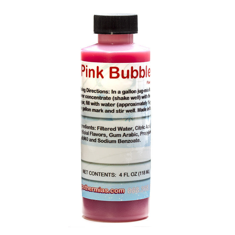 Shave ice syrup concentrate pink bubble gum 4 ounce