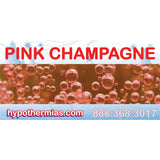 Label for shaved ice bottle pink champagne