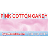Label for shave ice bottle pink cotton candy