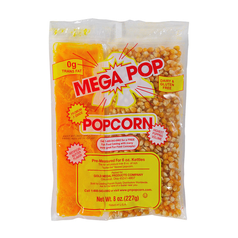 6 OZ. Mega Popcorn, Oil and Salt Kits (12/CS)