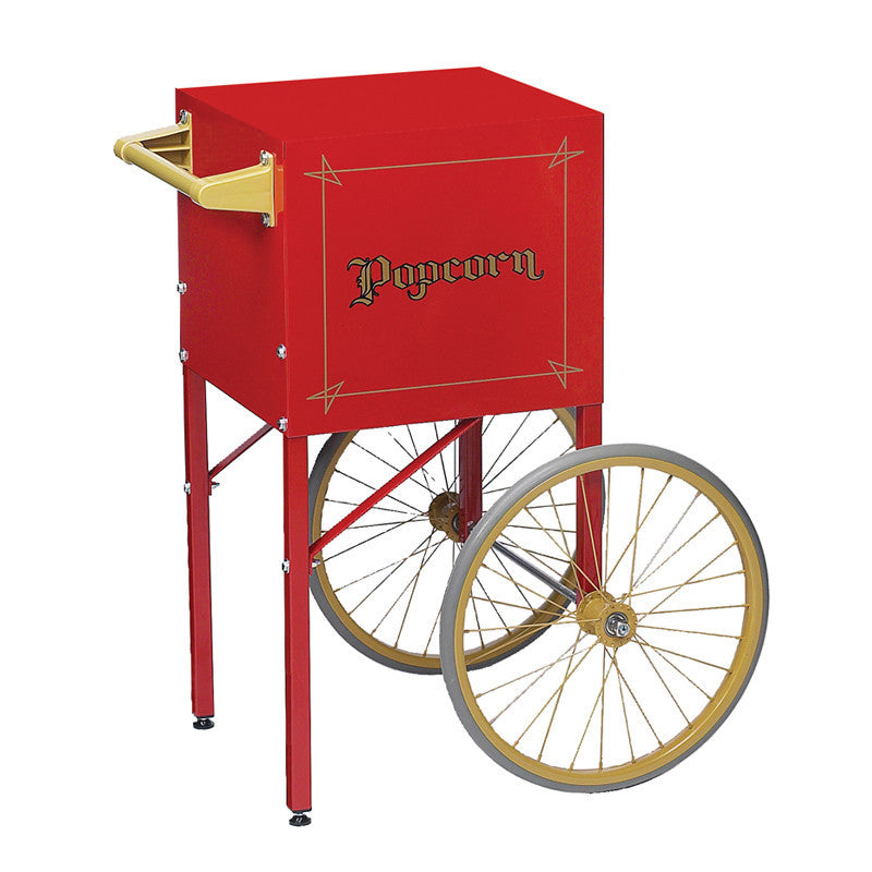 Cart for popcorn popper machine fits 4 ounce machine Gold Medal 2649CR