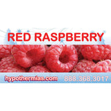 Label for shaved ice bottl red raspberry