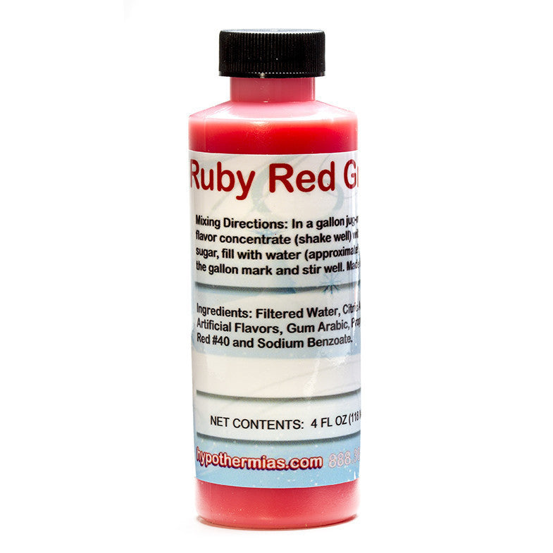 Ruby Red Grapefruit shaved ice syrup concentrate 4 ounce