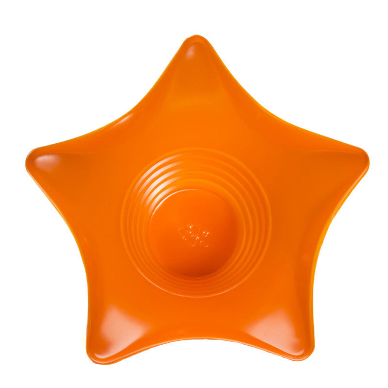 Shaved ice star cup 6 ounce orange