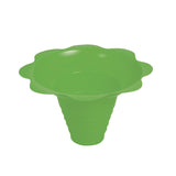 Shaved ice flower cup medium 8 ounce green