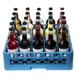 Shaved ice bottle transport rack 25 compartment with bottles