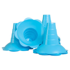 Shave ice flower cups large 12 ounce blue