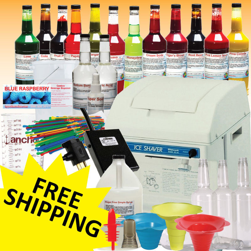 Deluxe Hatsuyuki HC-8E shaved ice machine package deal