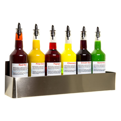 Stainless Steel Bottle Rack (Wall Mount) 22 Inch Single Hold