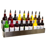 Stainless steel bottle rack 32 inch double hold speed rail
