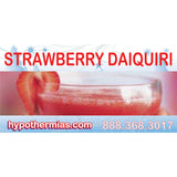 Label for shaved ice bottle strawberry daiquiri
