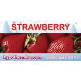 Label for shaved ice bottle strawberry