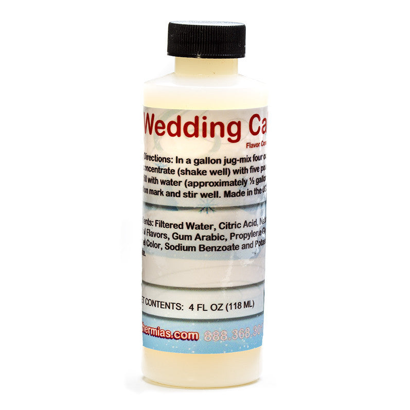 Wedding cake shave ice syrup flavor concentrate 4 ounce