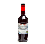 Wild cherry flavor syrup concentrate for shaved ice quart