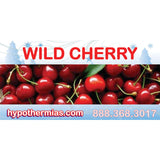 Label for shaved ice bottle wild cherry