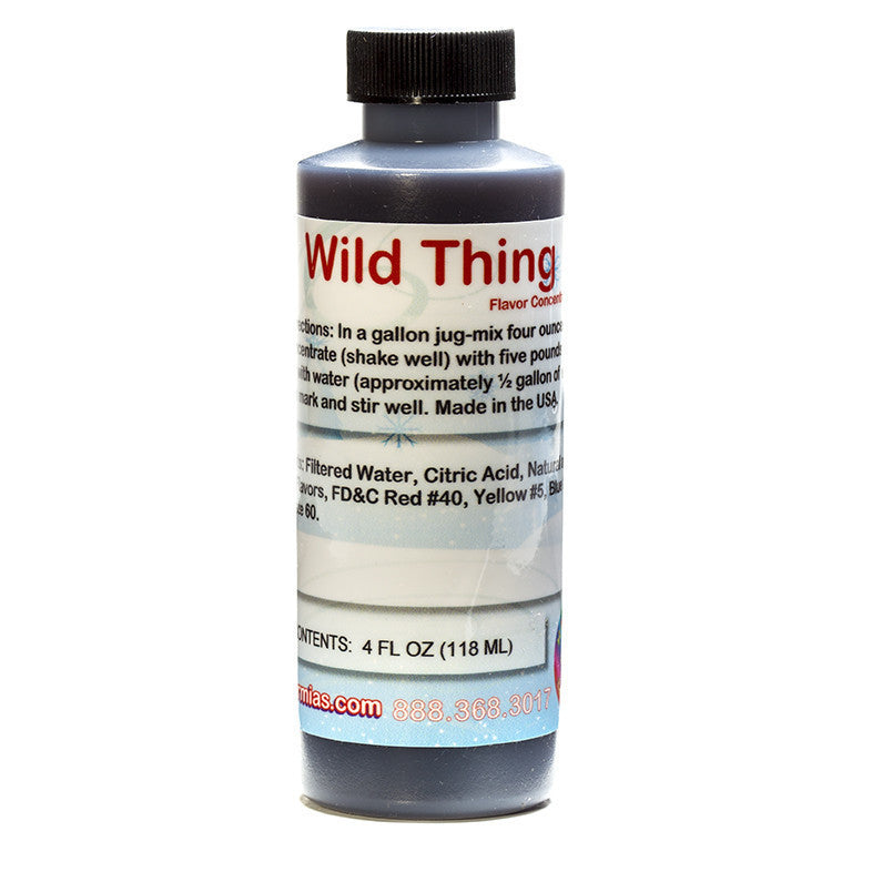 Wild Thing flavor syrup concentrate for shaved ice 4 ounce