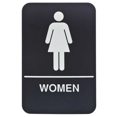 Sign-Woman's Restroom with Braille