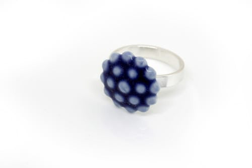 Jewelry - Porcelain Ring Dark Blue