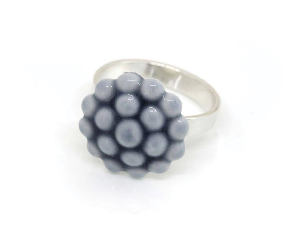 Jewelry - Porcelain Ring - Gray