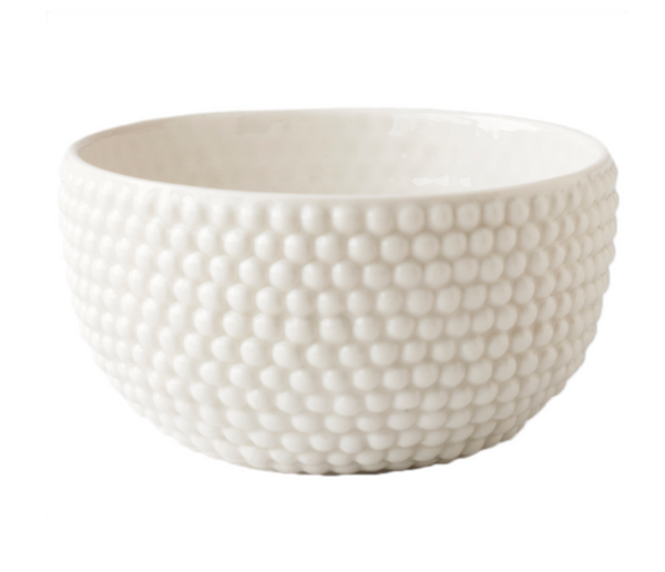 Porcelain Dotted Bowl - White