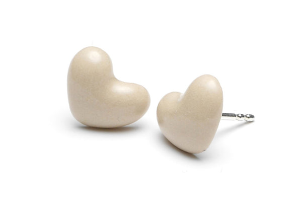 Jewelry - Porcelain Miniheart Ear Studs