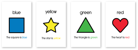 Color/Shape Flash Cards