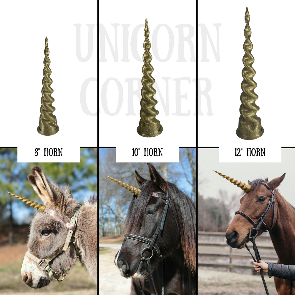 Classic Realistic Unicorn Horn for Horses and Ponies