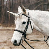 Unicorn Horn for Horses with Adjustable Straps / 10 inch horn