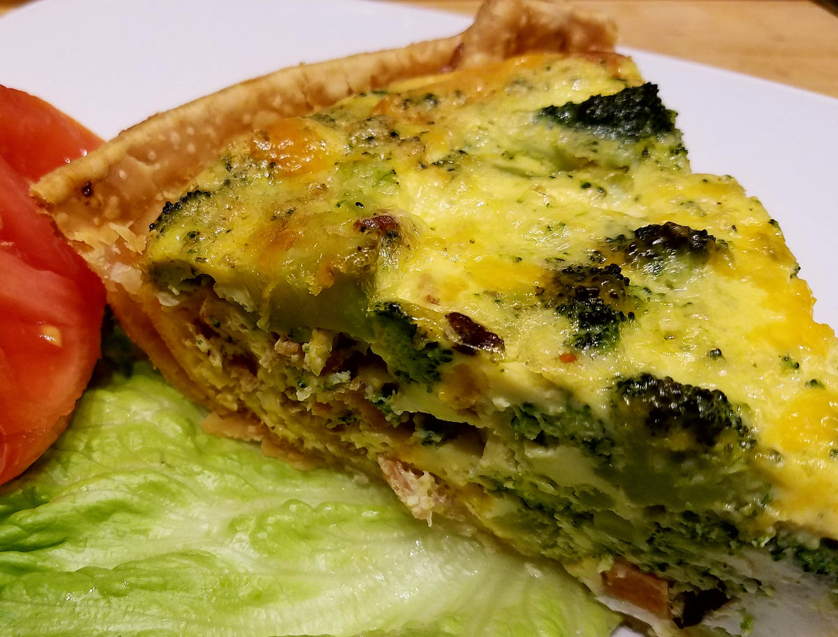 Broccoli, Cheddar and Bacon Quiche