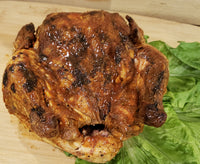 Beer Brined Hickory Smoked Whole Chickens