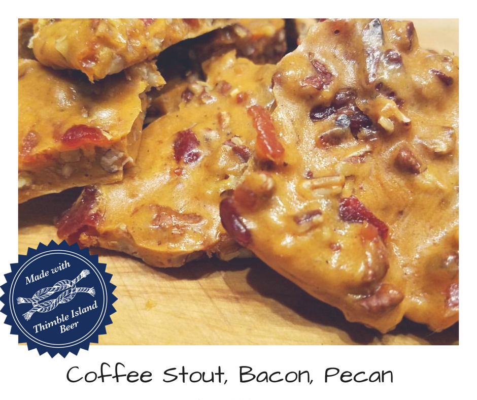Coffee Stout Bacon Pecan Brittle - 1 lb
