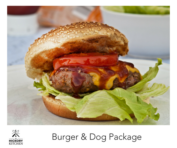 Burger and Hot Dog Package Ready for the Grill