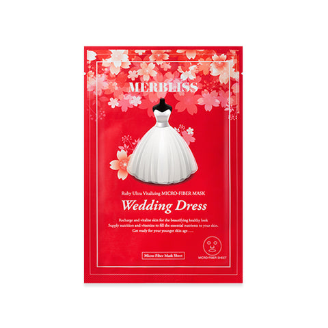Merbliss Wedding Dress Ruby Ultra Vitalizing Micro Fiber Mask - Meikki - Meikki
