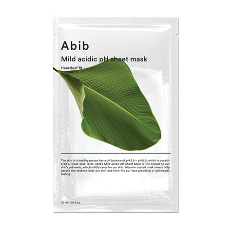 ABIB Mild Acidic pH Sheet Mask Heartleaf Fit - Meikki