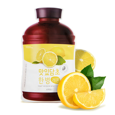 A'Pieu Fruit Vinegar Sheet Mask Lemon - Meikki