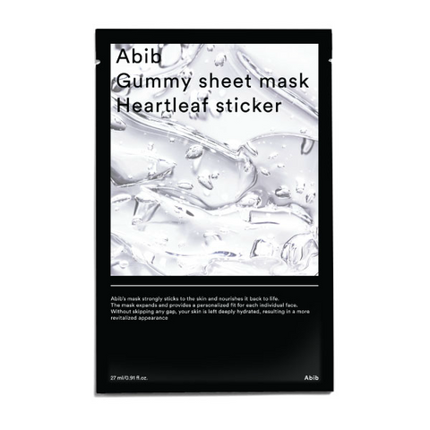 Abib Gummy Sheet Mask Heartleaf Sticker - Meikki