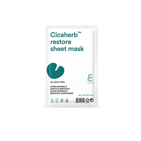 E NATURE Cicaherb Restore Sheet Mask - Meikki