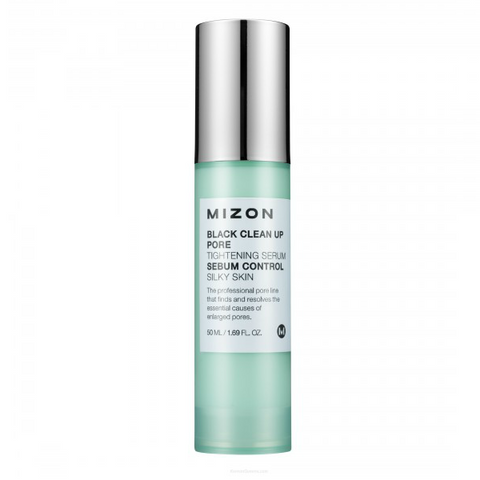 MIZON Black Clean Up Pore Tightening Serum 50ml - Meikki