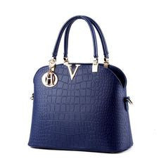 LUXURY ALLIGATOR PATTERN HANDBAG