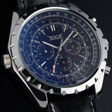 Men's Luxury Mechanical Watch Black/White Dial