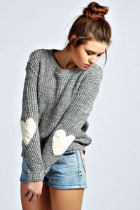 Teenage Girls Knit Gray Pullover