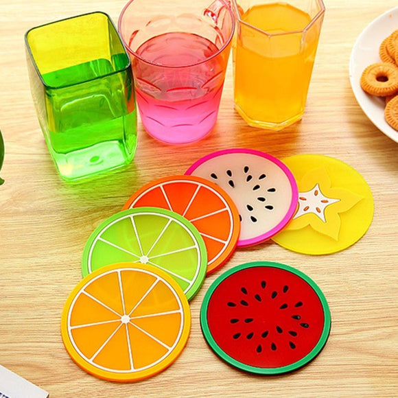 Fruit Shape Silicone Cup Pad