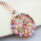Rainbow of Flowers Necklace