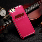 SLIM LEATHER WALLET CARD PHONE CASE